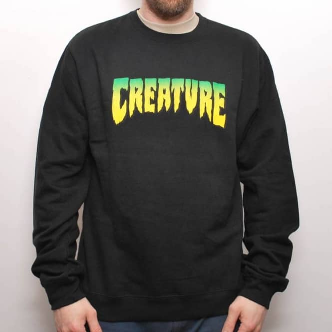 Creature Skateboards Creature Logo Crew Black