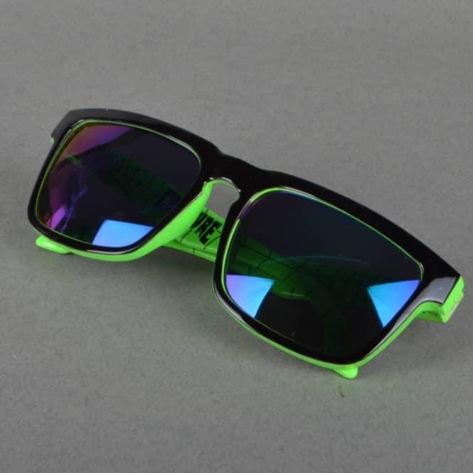 Black and Green Sunglasses Stereo Skateboards