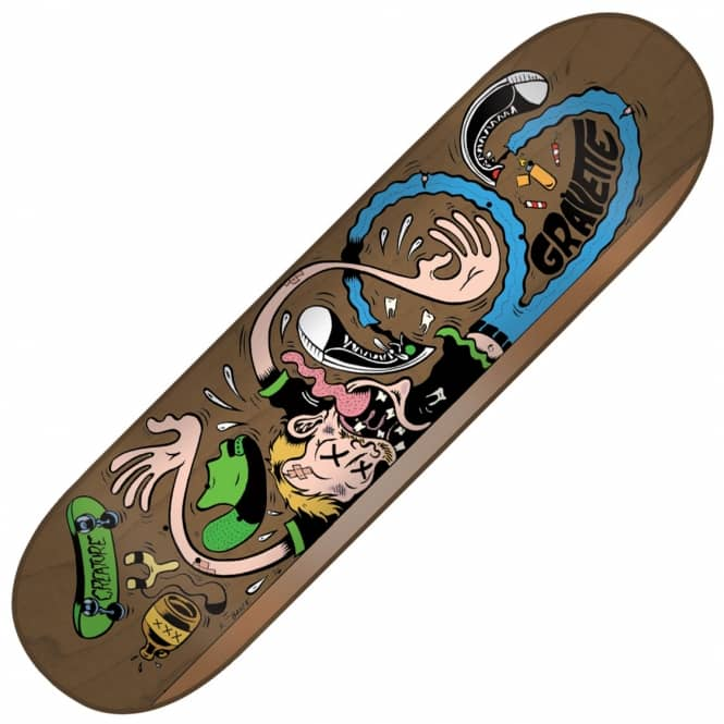 Creature Skateboards Bagge It Gravette Skateboard Deck 8.2