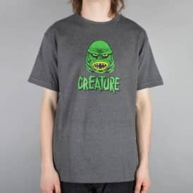 Creature Skateboards Black Lagoon Skate T-Shirt - Charcoal Heather