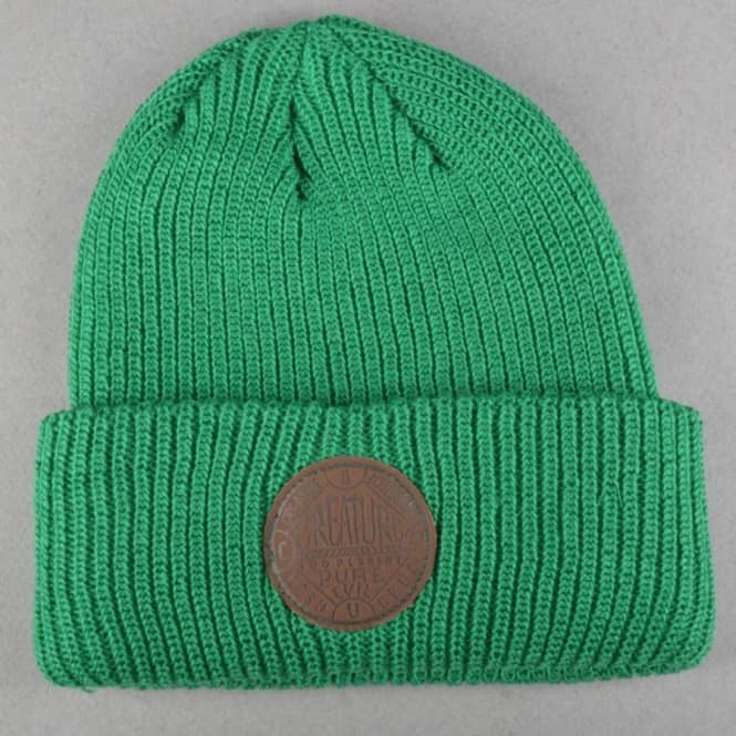 Creature Skateboards Black Magic Long Shoreman Beanie - Kelly Green