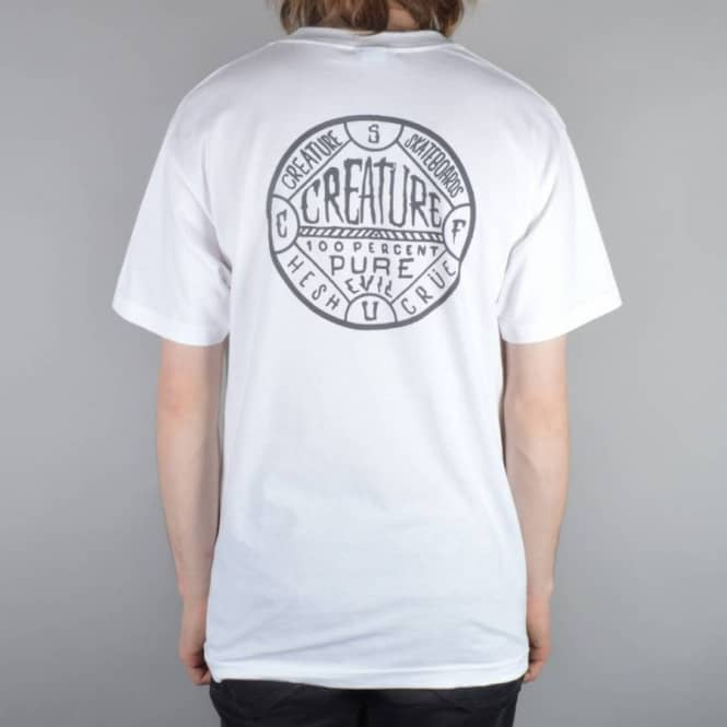 Creature Skateboards Black Magic Pocket T-Shirt - White
