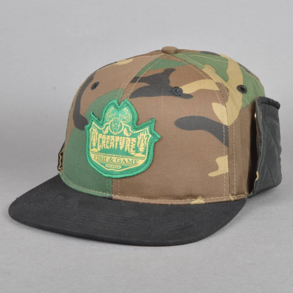 Creature Skateboards Bobber Fitted Hunting Cap - Camo Black - SKATE ... 80a7d3ea1eb