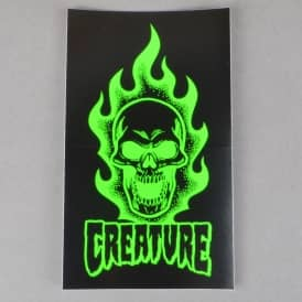 Creature Skateboards Bonehead Skateboard Sticker - Black