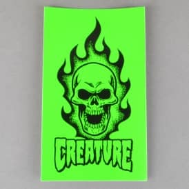 Creature Skateboards Bonehead Skateboard Sticker - Green