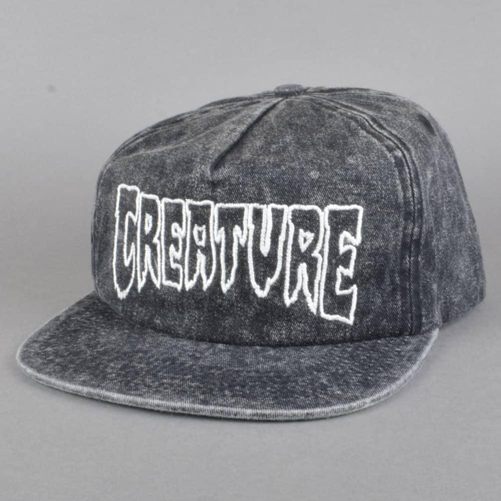 b158292c706 Creature Skateboards Burnout Snapback Cap - Distressed Black - SKATE ...