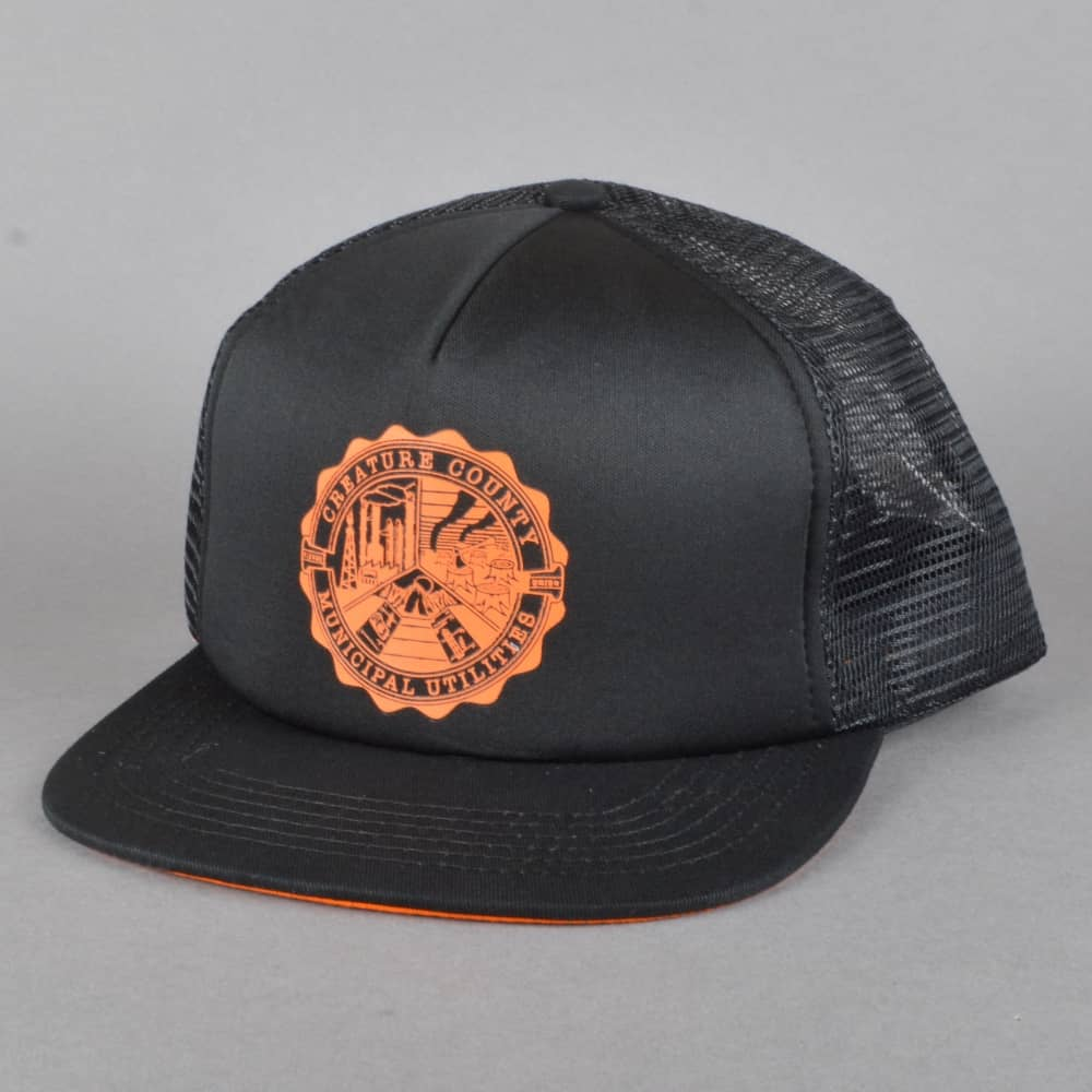 3c042be81f7 CCMU Trucker Cap - Black Orange