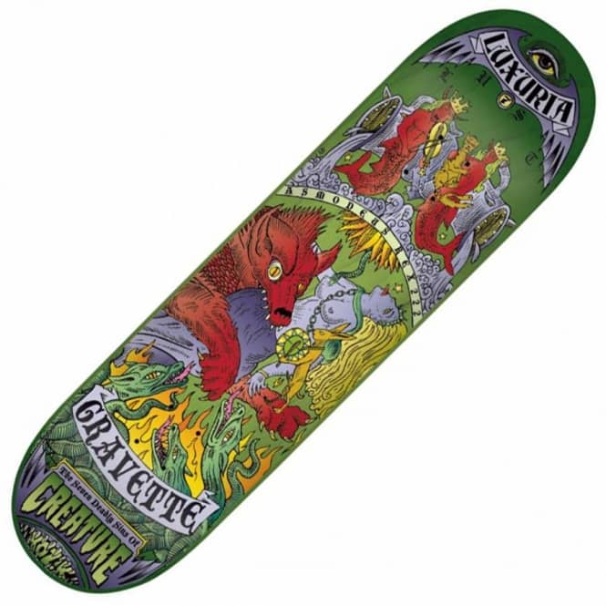Creature Skateboards Creature David Gravette Seven Deadly Sins Skateboard Deck 8.0''