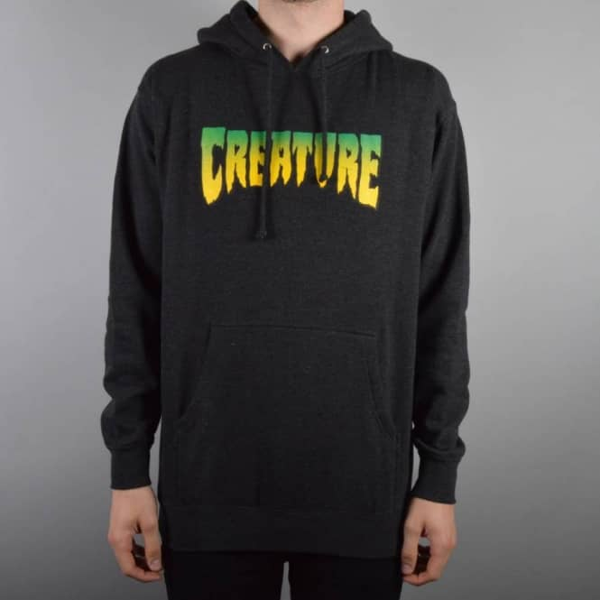 Creature Skateboards Creature Logo Pullover Hoodie - Charcoal Heather