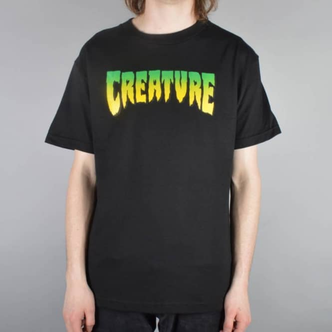 Creature Skateboards Creature Logo Skate T-shirt - Black