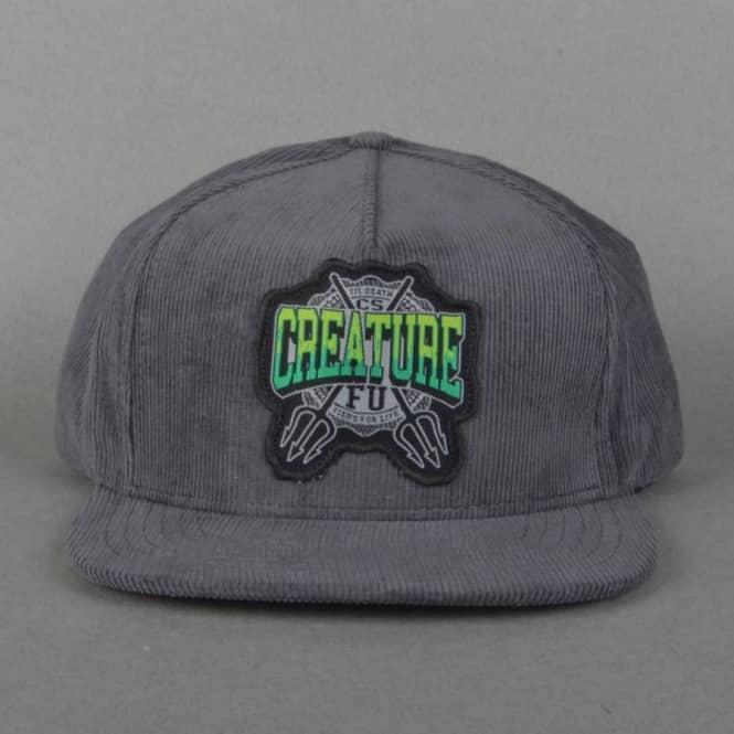 Creature Flunkee adjustable Corduroy snapback dark grey cap