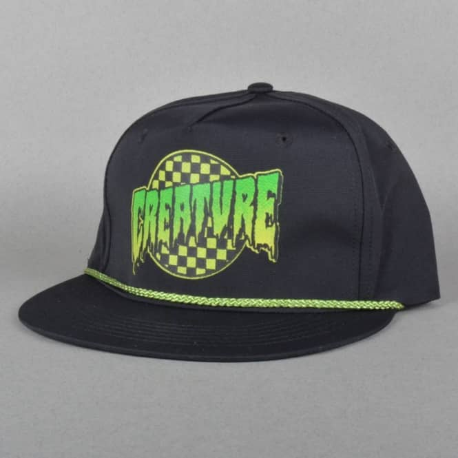 Creature Skateboards Go Home Snapback Cap - Black - SKATE CLOTHING ... 2e7dc6b5525