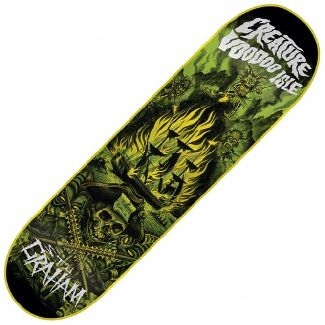 Creature Skateboards Graham Voodoo Isle Skateboard Deck 9.0