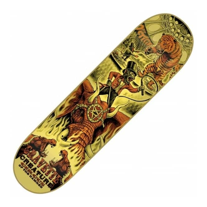 Creature Skateboards Gravette Circus Of the Damned Skateboard Deck 8.25