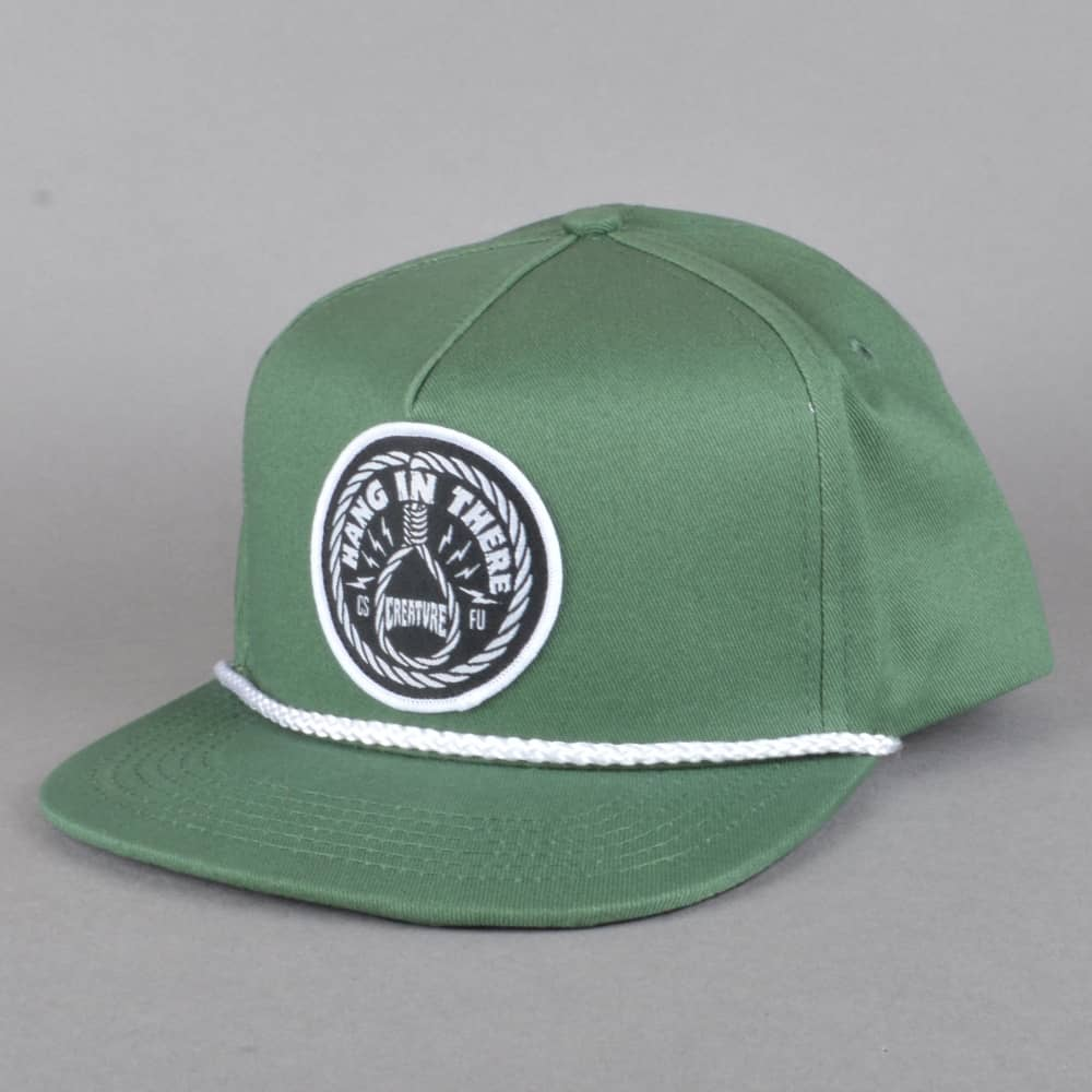 Creature Skateboards Hang In There Snapback Cap - Green - SKATE ... c49000b7cf6