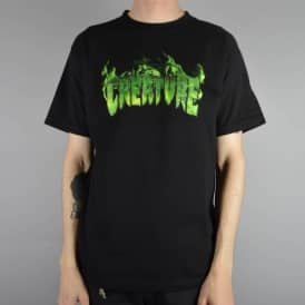 Creature Skateboards Inferno Skate T-Shirt - Black