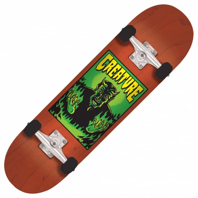 Creature Skateboards Lil Devil Team Orange Mini Complete Skateboard 7.0