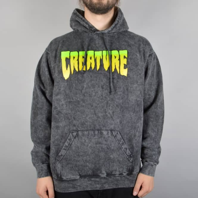 Creature Skateboards Logo Pullover Hoodie - Mineral Black