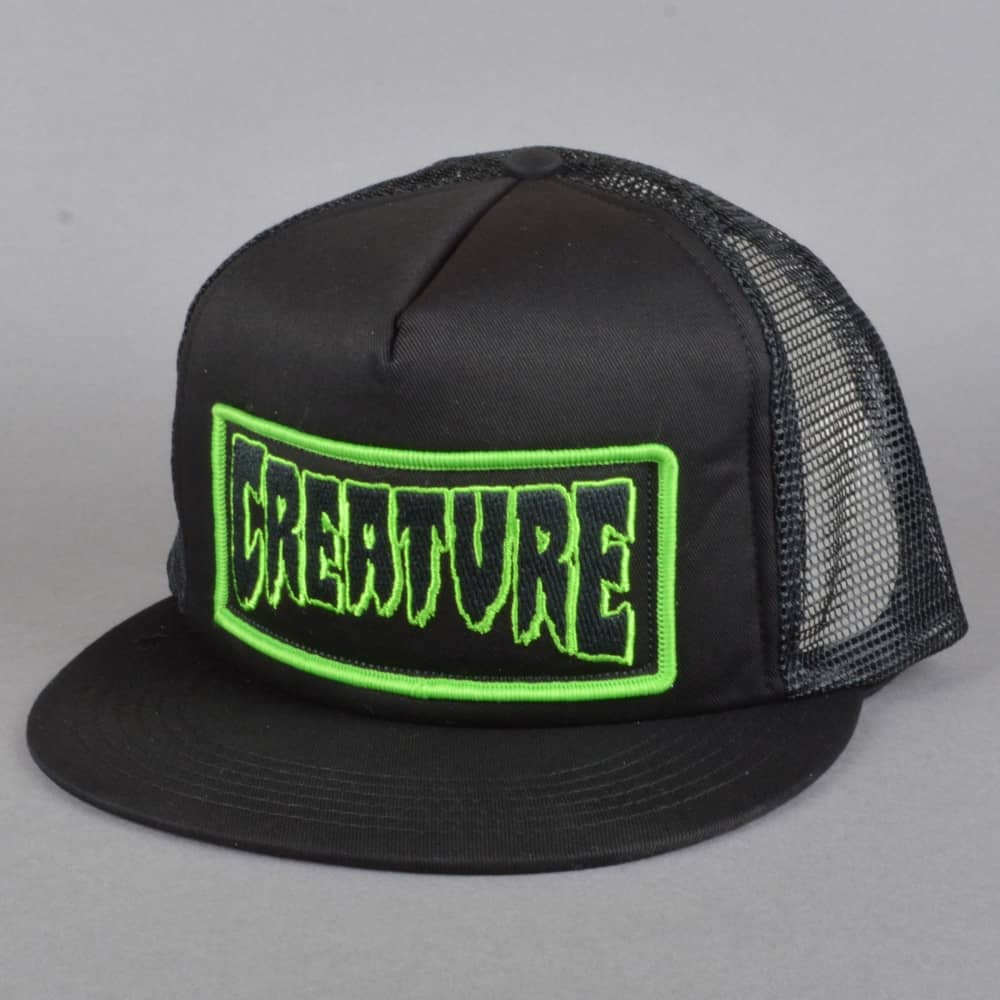Creature Skateboards Patch Trucker Mesh Cap - Black 4d940fcbba8