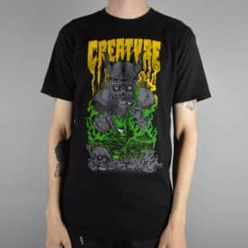 Creature Skateboards Pillage and Burn Skate T-Shirt - Black