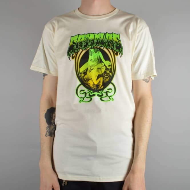Creature Skateboards Psych Skate T-Shirt - Cream