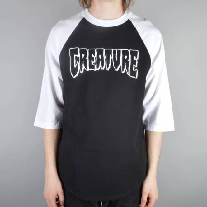 e555849f0c47d9 Creature Skateboards Rev Logo 3 4 Sleeve Raglan T-Shirt - Black ...