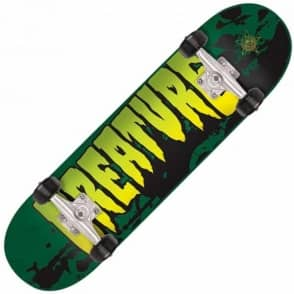 Creature Skateboards Stained Green Mid Complete Skateboard 7.25""
