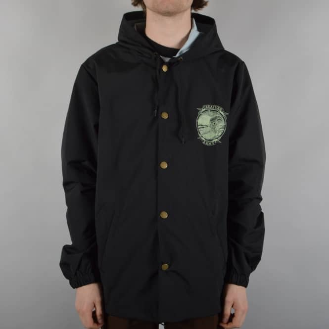Creature Skateboards Trench Knife Hooded Windbreaker Jacket - Black
