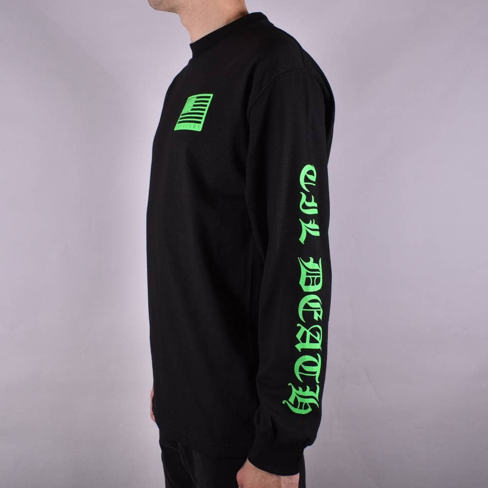 Creature UNITED WE LURK LONG SLEEVE Skateboard Shirt BLACK MEDIUM