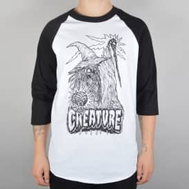 Creature Skateboards Wizard Raglan 3/4 Sleeve T-Shirt - White/Black