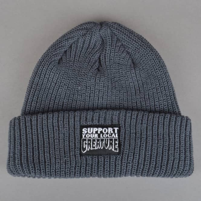 Creature Skateboards Creature Support Long Shoreman Skate Beanie - Charcoal