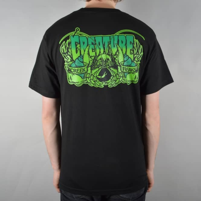 Creature Skateboards Creeks Freaks Skate T-Shirt - Black