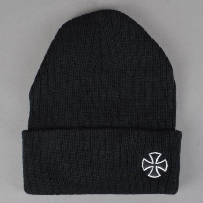 Independent Trucks Cross Ribbed Fold Up Beanie - Black
