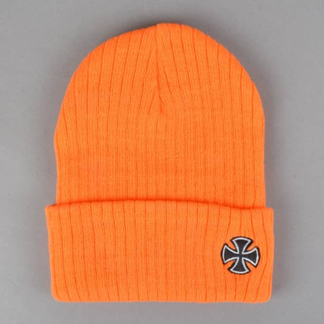 Independent Trucks Cross Ribbed Fold Up Beanie - Orange