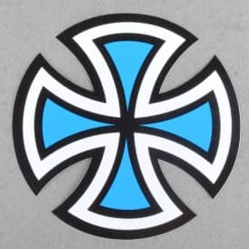 Cross Skateboard Sticker - Assorted Colours