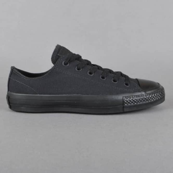dd6821e0a52 Converse CTAS Pro OX Canvas Skate Shoes - Black Black - SKATE SHOES ...