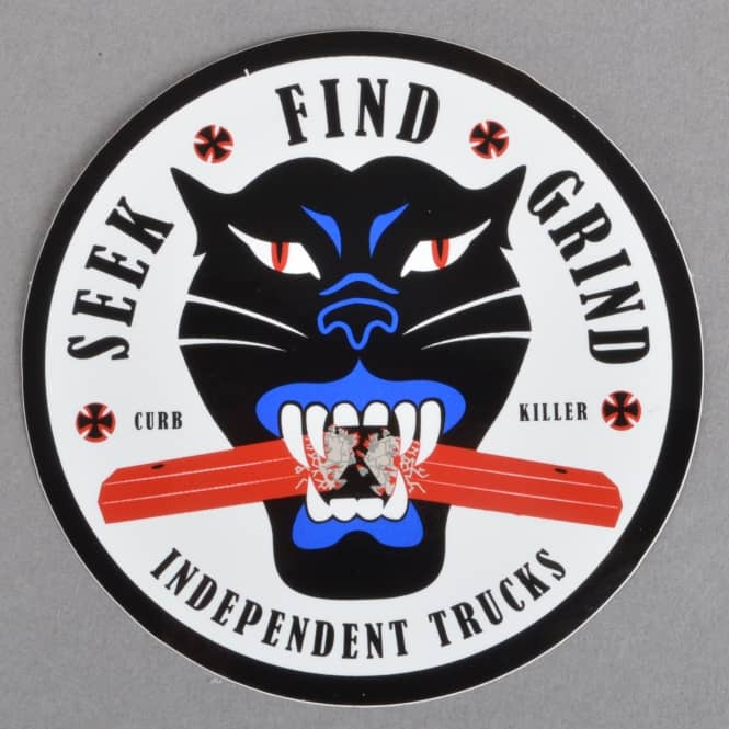 Independent Trucks Curb Killer Skateboard Sticker - 3