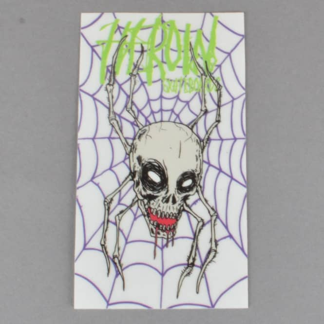 Heroin Skateboards Curse Of The Spider Skateboard Sticker