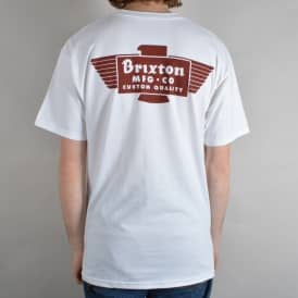 Cylinder T-Shirt - White/Burgundy