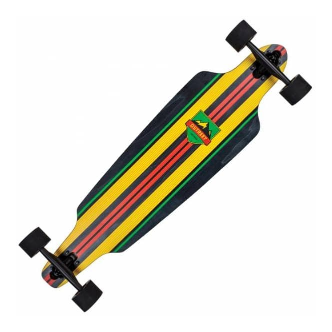 D Street Skateboards Drop Through Stinger Rasta Longboard 38