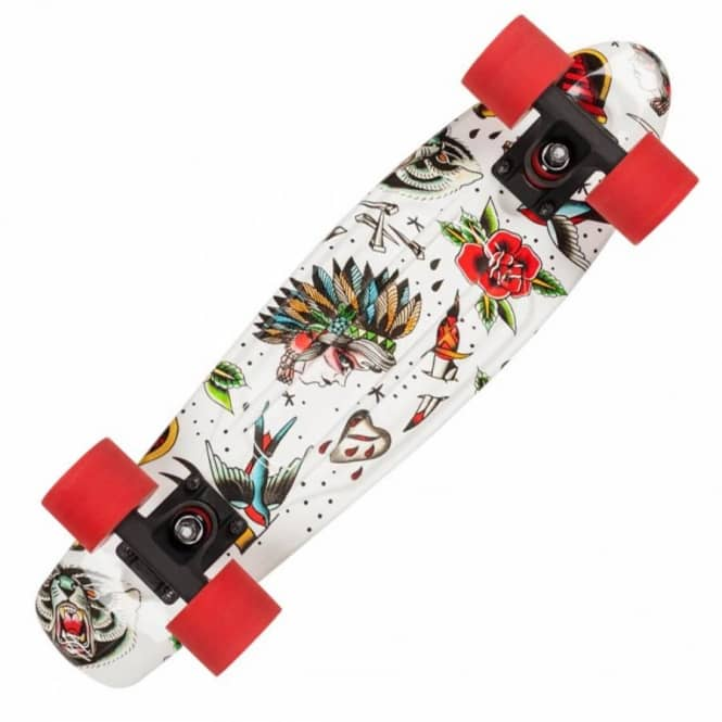 D Street Skateboards Ink Polyprop Cruiser Skateboard - White