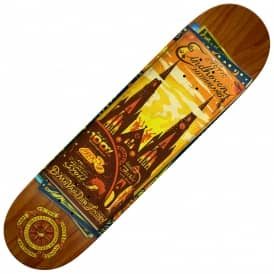 Daan Map To Skaters Home (Orange Stain) Skateboard Deck 8.12