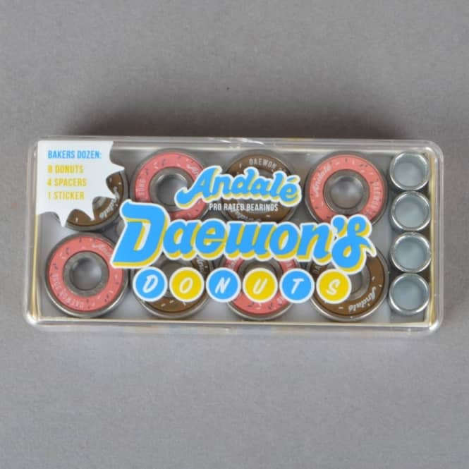 Andale Bearings Daewon's Donuts Pro Rated Skateboard Bearings