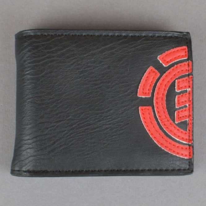 Element Skateboards Daily Wallet - Black/Fire Red