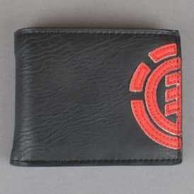Daily Wallet - Black/Fire Red