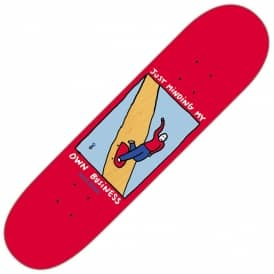Dane Brady Just Minding My Own Business Red Skateboard Deck 8.125