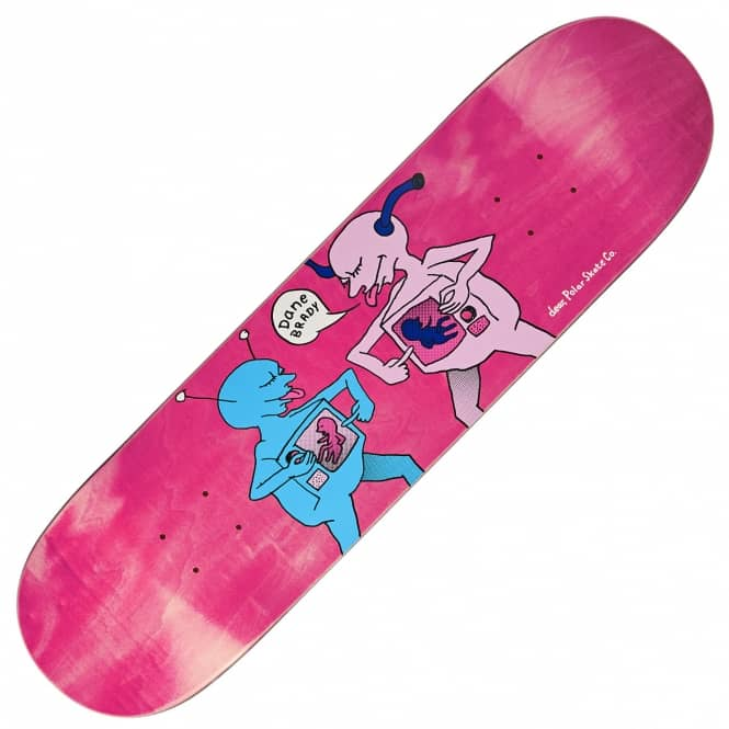 Polar Skateboards Dane Brady TV Kid (Pink Stain) Skateboard Deck 8.125