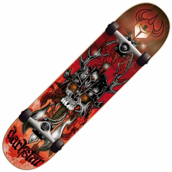 Darkstar Grime Red Complete Skateboard 7.6