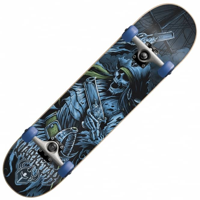 Darkstar Pirate Blue Complete Skateboard 7.75
