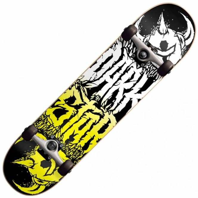 Darkstar Reverse Black/Yellow Complete Skateboard 7.8